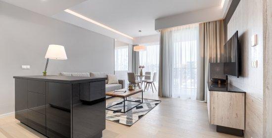 Apartment Deluxe mit 1 Schlaffzimmer 3.11 C und seitlichem Meerblick