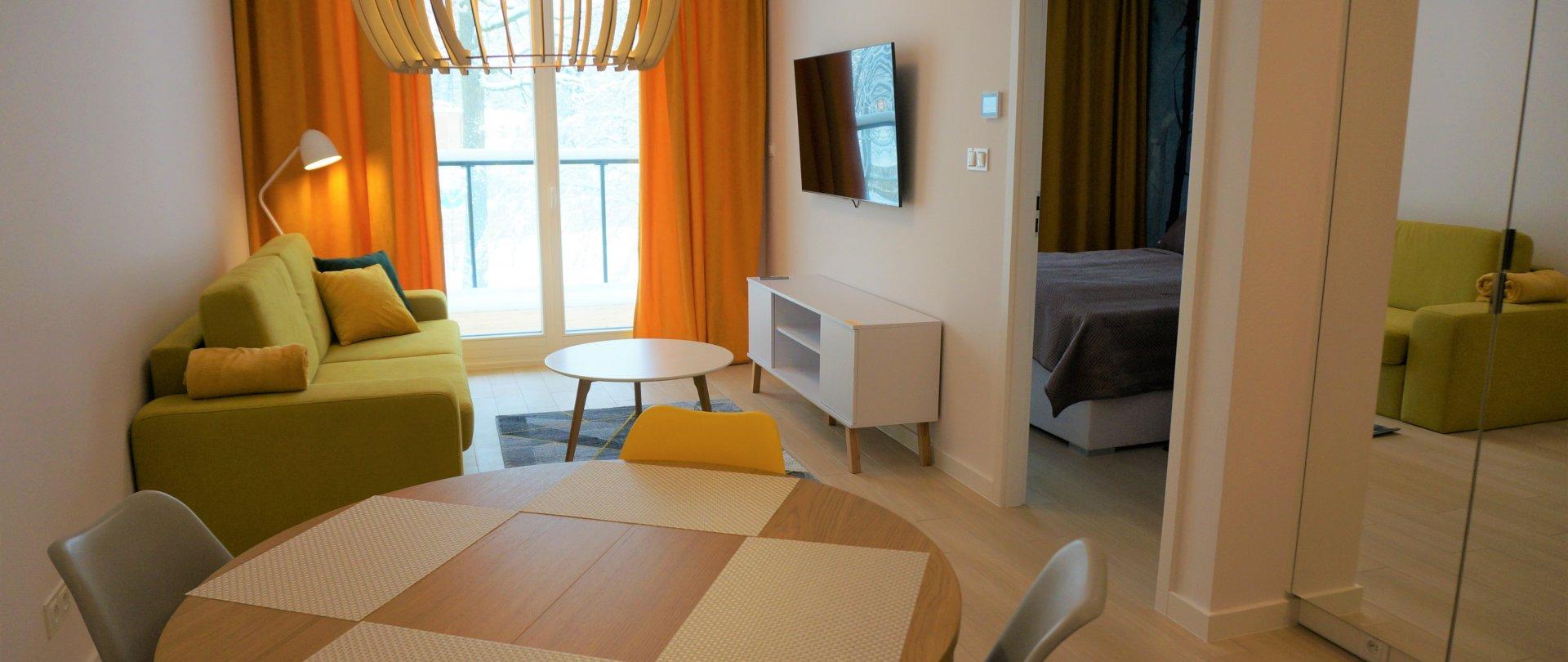 Apartament 2 pokojowy z sauną (4 osoby)