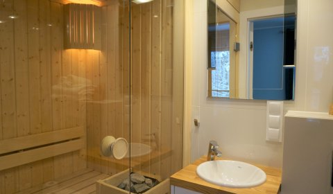 Apartament 3 pokojowy z sauną (6 osób)