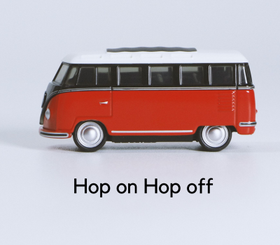 Hop on - hop off bus tour package