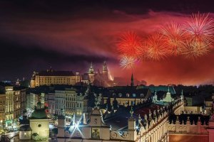 New Year's Eve with Wawel Castle  view