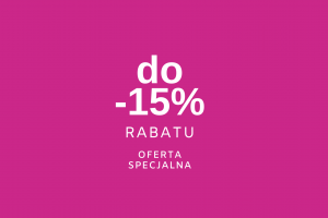 Special offer - up to 15% discount