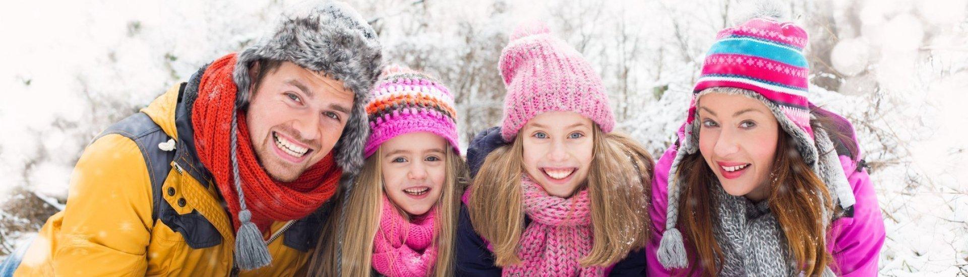 Zima i rodzina nad Bałtykiem