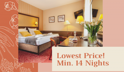 Lowest Price - min. 14 nights stay