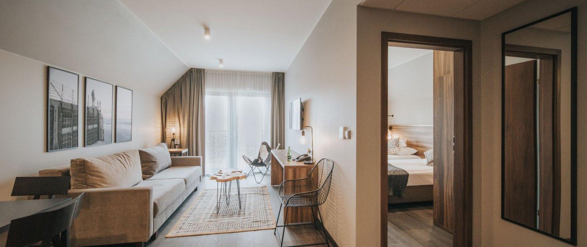Apartmán s oddělenou ložnicí
