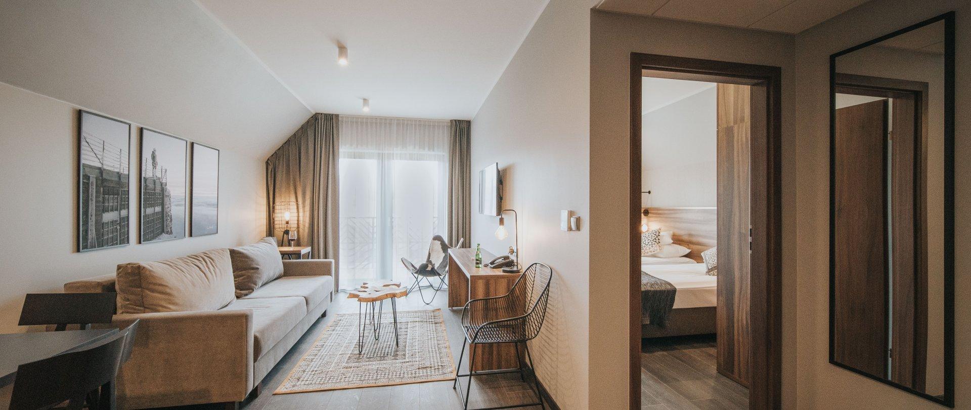 Apartament z oddzielną sypialnią