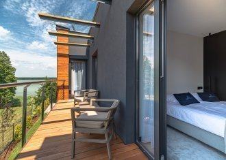 Two-bedroom suite with a lake view