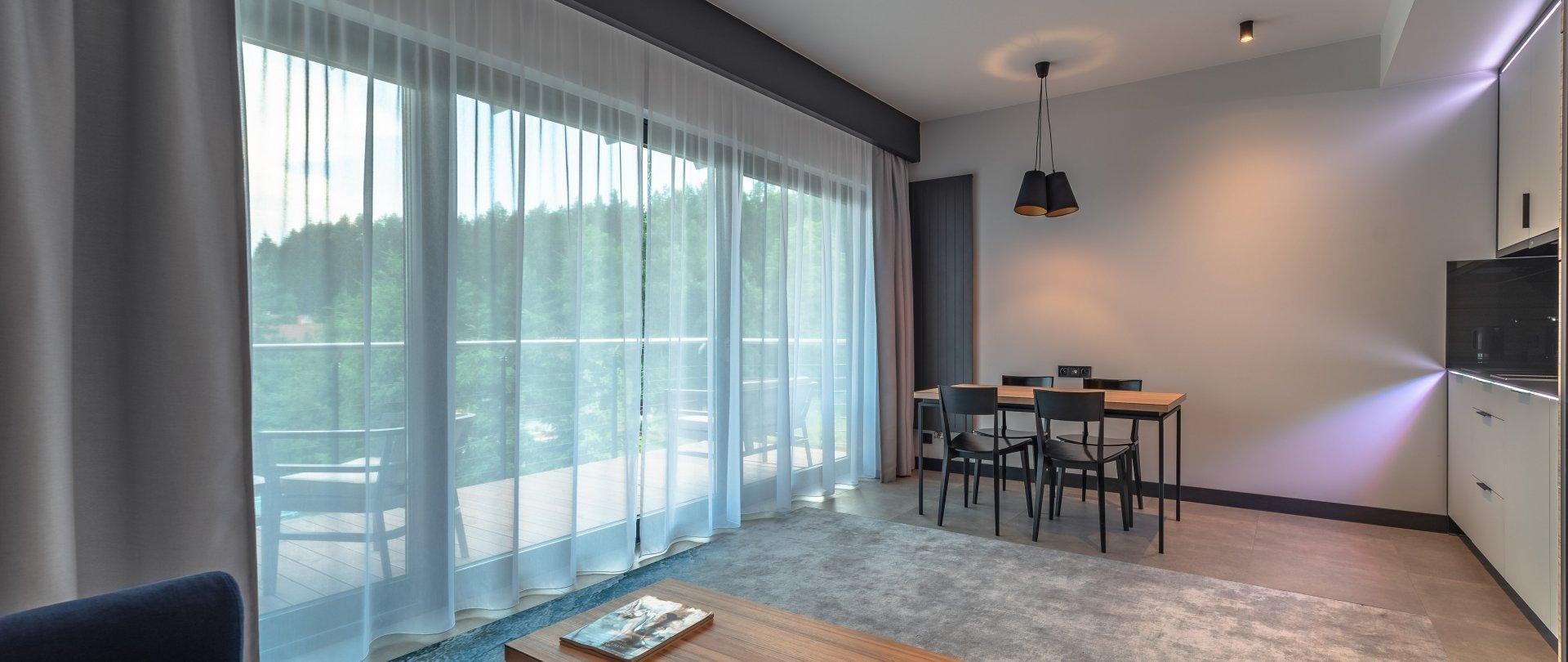 Apartment mit Gartenblick und Terrasse