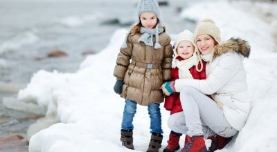 Familien Winter Ferien am Meer