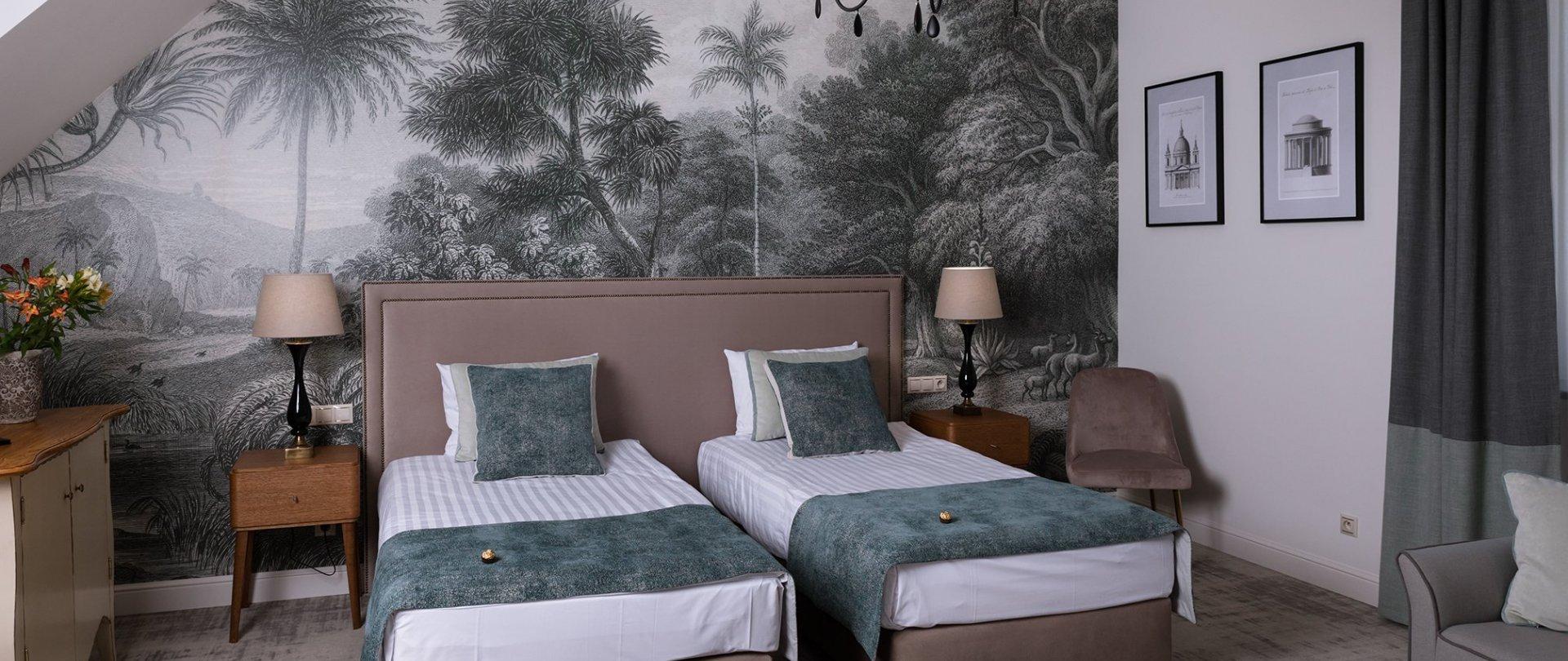 Dwuosobowy Deluxe (pojedyncze łóżka, dostawka)