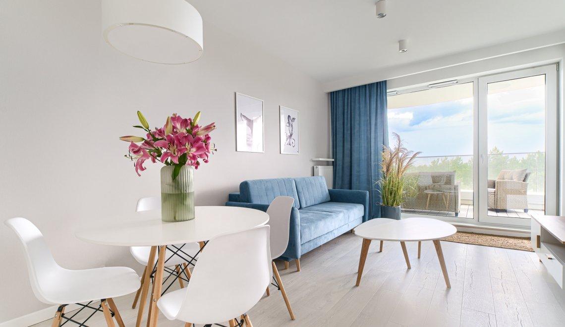 Apartament z 1 sypialnią 1.503 i tarasem widokowym na morze