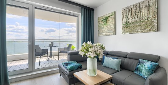 Apartment Deluxe with 1 bedroom 2.508 and lake view terrace